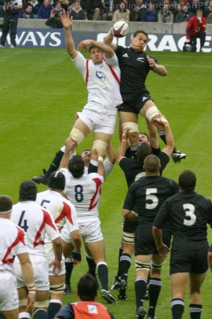 Rugby union in New Zealand - New Zealand playing England.