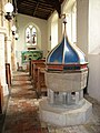 All Saints church - Norman font in south aisle - geograph.org.uk - 1692132.jpg