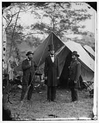 Allan Pinkerton, Abraham Lincoln and John Alexander McClernand at Antietam, Sharpsburg, MD 04326a original.jpg