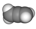 Spacefill model of propadiene