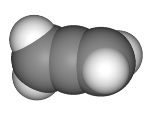 Allene - 3D view of propadiene (allene)