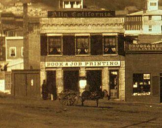 The Daily Alta California - Alta California Building, 1851