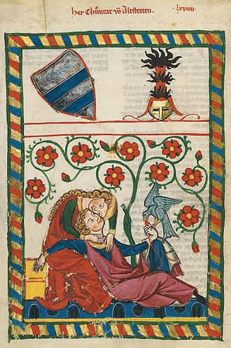 Bibliotheca Palatina - Codex Manesse: Konrad von Altstetten.