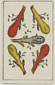 Aluette card deck - Grimaud - 1858-1890 - Five of Clubs.jpg