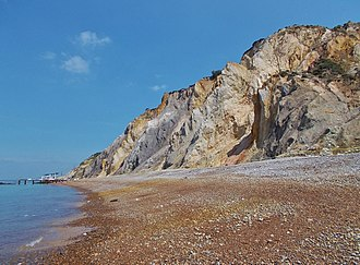 Alum Bay - The coloured sands at Alum Bay