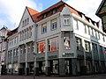 Am Markt 5, Am Markt 6, Ecke Neue Straße, Celle, Bücher Decius, Stolpersteine Frida Gimpel, Alfred Cussel, Emilie Erbse, Gretchen Zerkowski.jpg