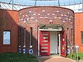 Amersfoort Kunstwerk van Inez de Heer Kloots op de gevel van 't Haevepoort aan de Wageningseberg.jpg
