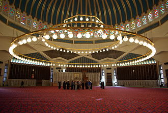 Mosque lamp - Modern electric lighting in Amman