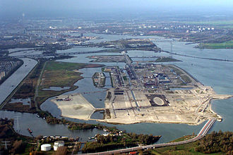 IJburg - Aerial photograph of IJburg under construction (November 2004)