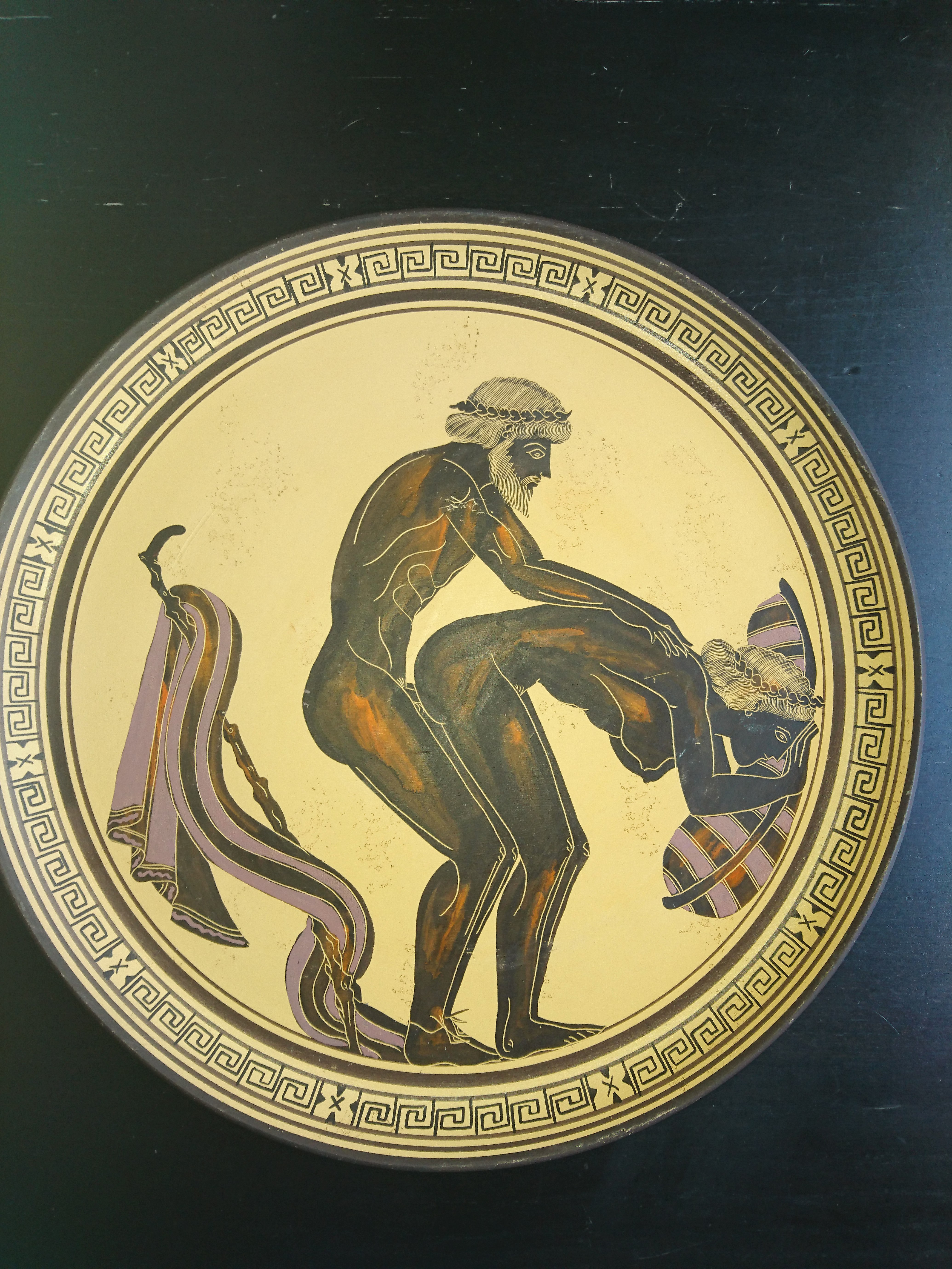 FileAncient Attica Ceramic Plate with Satyr 550 BC.JPG & File:Ancient Attica Ceramic Plate with Satyr 550 BC.JPG ...