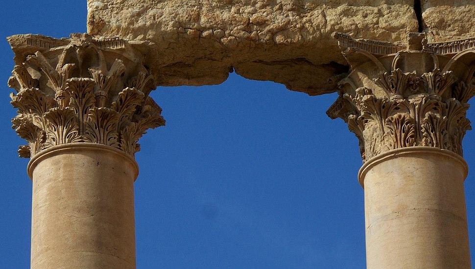 Ancient Roman Corinthian capitals in Palmyra, Syria