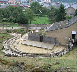 The ancient Roman theatre and its surroundings