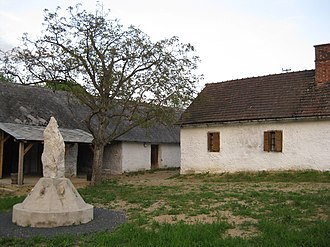 Hungarian Slovenes - Monument to the Slovene culture in Hungary, made from a rock from Mount Triglav, in the village of Orfalu (Andovci), Vas county