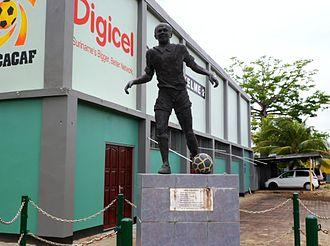 André Kamperveen - Bronze statue of André Kamperveen at the André Kamperveen Stadion in Paramaribo.