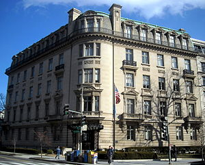 National Trust for Historic Preservation - The National Trust for Historic Preservation's former headquarters of 35 years, the Andrew Mellon Building, located in the Dupont Circle neighborhood of Washington, D.C. The National Trust moved its headquarters to the Watergate complex in 2013.