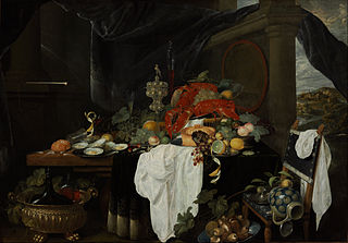 A Pronk Still Life with Fruit, Oyters, and Lobsters