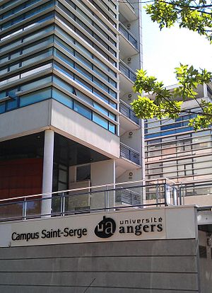 University of Angers - Image: Angers Campus Saint Serge