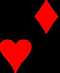 Conjunto de naipes do baralho: Paus, Ouro, Copas e Espadas