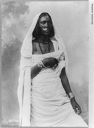 Nubia - Nubian woman circa 1900