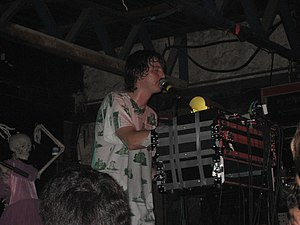 Panda Bear (musician) - Panda Bear performing with Animal Collective in 2009.