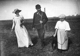 Anna, Michael og Helga på heden