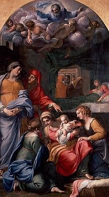 8 septembre : Nativité de la Vierge Marie  220px-Annibale_Carracci%2C_Nativit%C3%A0_della_Vergine%2C_Louvre