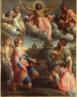 Cristo in Gloria con santi ed Odoardo Farnese - Wikipedia