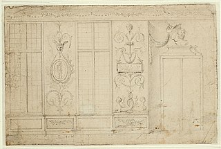 Design for the wall of a room in neo-classical style