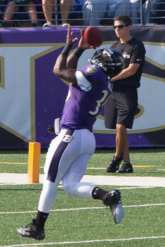 Anthony Allen (running back) - Allen at Ravens M&T Bank Stadium practice in August 2012.