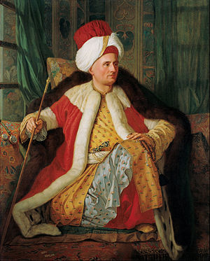 Diplomacy - A French ambassador in Ottoman dress, painted by Antoine de Favray, 1766, Pera Museum, Istanbul.