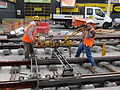 Anzin & Valenciennes - Travaux de raccordement des lignes A & B du tramway de Valenciennes à la Croix d'Anzin le 20 août 2013 (06).JPG