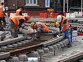 Anzin & Valenciennes - Travaux de raccordement des lignes A & B du tramway de Valenciennes à la Croix d'Anzin le 20 août 2013 (20).JPG