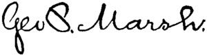 George Perkins Marsh - Image: Appletons' Marsh Charles George Perkins signature