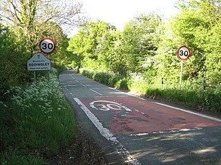 Oddingley village in United Kingdom