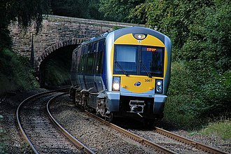 An NIR C3K railcar Approaching Seahill station - geograph.org.uk - 243422.jpg
