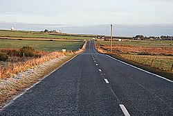 Approaching Tyrie on the A98 - geograph.org.uk - 295835.jpg