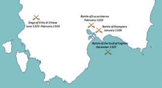 Aragonese conquest of Sardinia - Major battles of the campaign