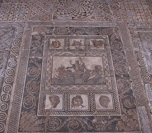 Dionysus mosaic, Dion - Works at the mosaic