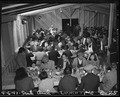 Arcadia, California. Lunch time cafeteria style, at the Santa Anita Assembly center where many thou . . . - NARA - 537404.tif