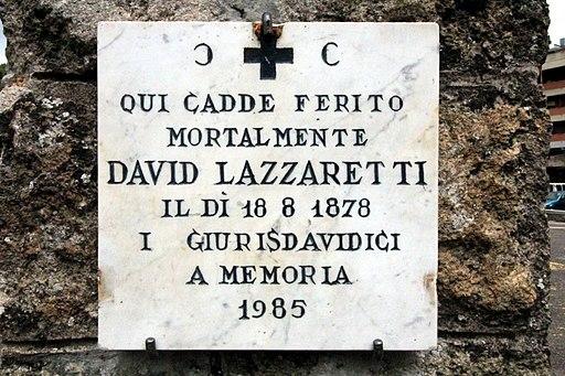 Placca Davide Lazzaretti