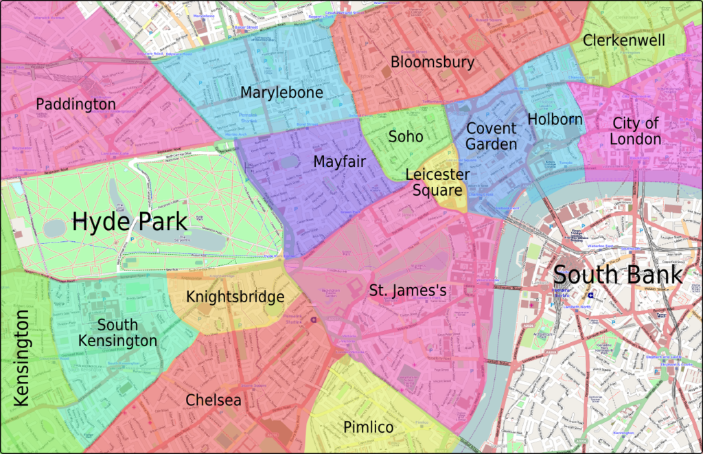 Maps Update 733596 Map of Central London Neighborhoods Map of – Map of Central London Areas
