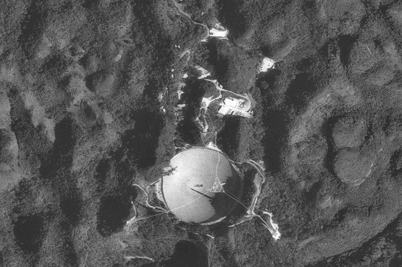 NASA aerial photo Arecibo Observatory 66.75261W 18.34607N