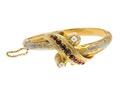 Armband av guld med granater, pärlor och emalj, 1846 - Hallwylska museet - 110130.tif