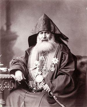 Armenian Patriarchate of Jerusalem - Harootiun Vehabedian, Armenian Patriarch of Jerusalem, 1900 (Library of Congress).
