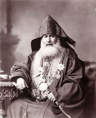 Armenian Patriarchate of Jerusalem - Harootiun Vehabedian, Armenian Patriarch of Jerusalem, 1900 (Library of Congress).