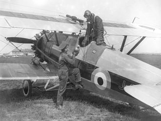 No. 41 Squadron RAF - RAF Armstrong-Whitworth Siskin IIIa from No. 41 Squadron at Northolt being serviced with oxygen.