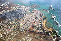 Aerial view of Arrecife