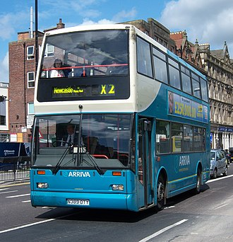 Arriva Northumbria - East Lancs Cityzen bodied Scania N113 in Newcastle upon Tyne in 2009