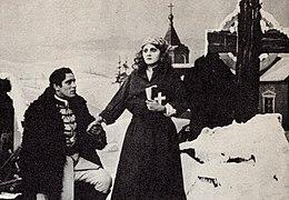 Arthur Johnson and Florence Lawrence in Resurrection 1909.jpg