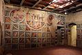 Asciano, museo di palazzo corboli, int., sala di aristotele con affreschi attr. a Cristoforo di Bindoccio e Meo di Pero, XIV sec. 01.JPG